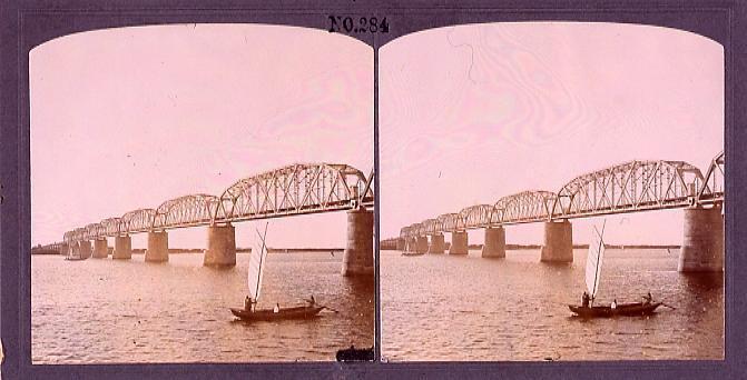 作品画像:ハルピン市街ズンガリー鉄橋(No.284)