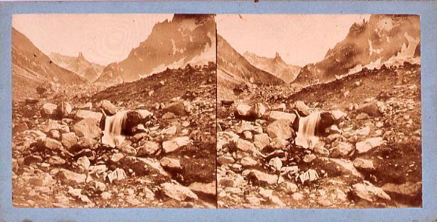 作品画像:外国製ステレオ写真 ヨーロッパ山岳風景