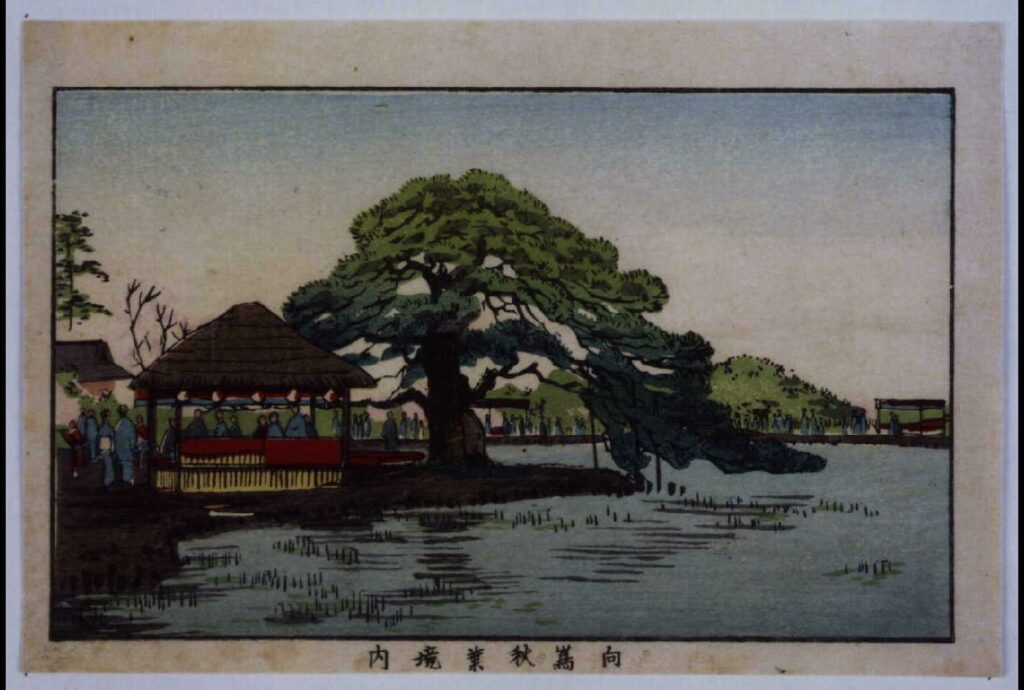作品画像:東京真画名所図解 向島秋葉境内