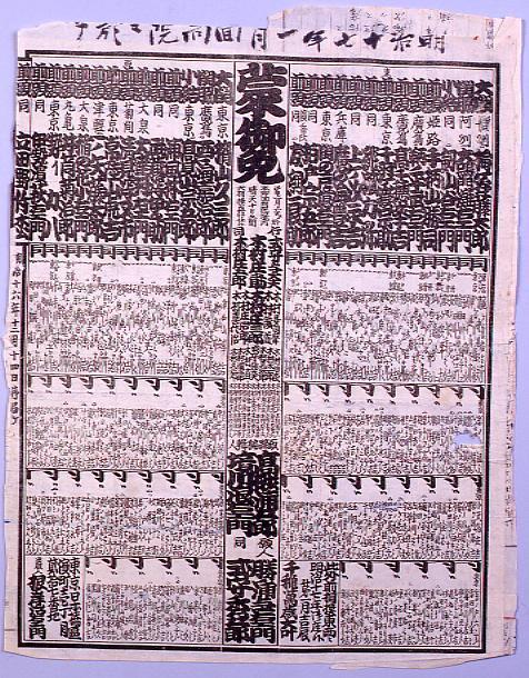 作品画像:回向院大相撲番付 明治十七年一月場所