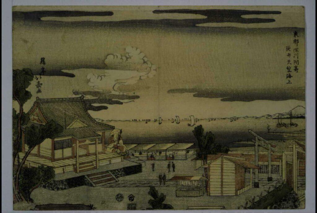 作品画像:東都深川洲崎従弁天望海上