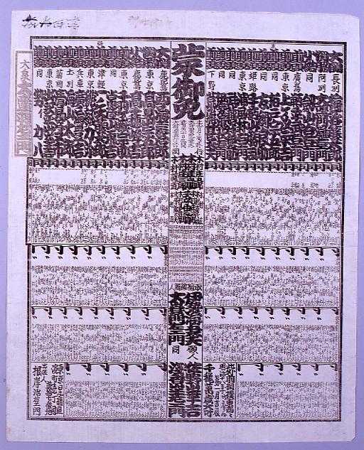 作品画像:回向院大相撲番付 明治十八年一月場所