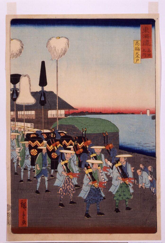 作品画像:東海道名所之内 高輪大木戸