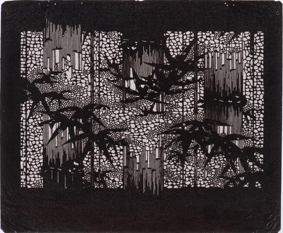 作品画像:長板中形型紙 竹 (小判 追掛)