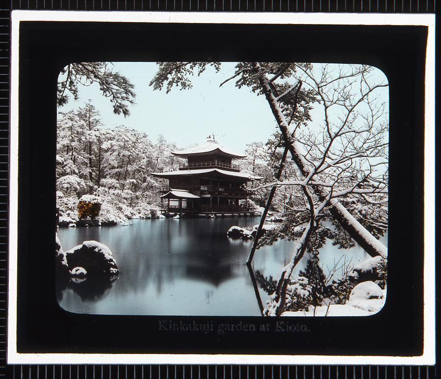 作品画像:京都 金閣寺(幻灯原板)