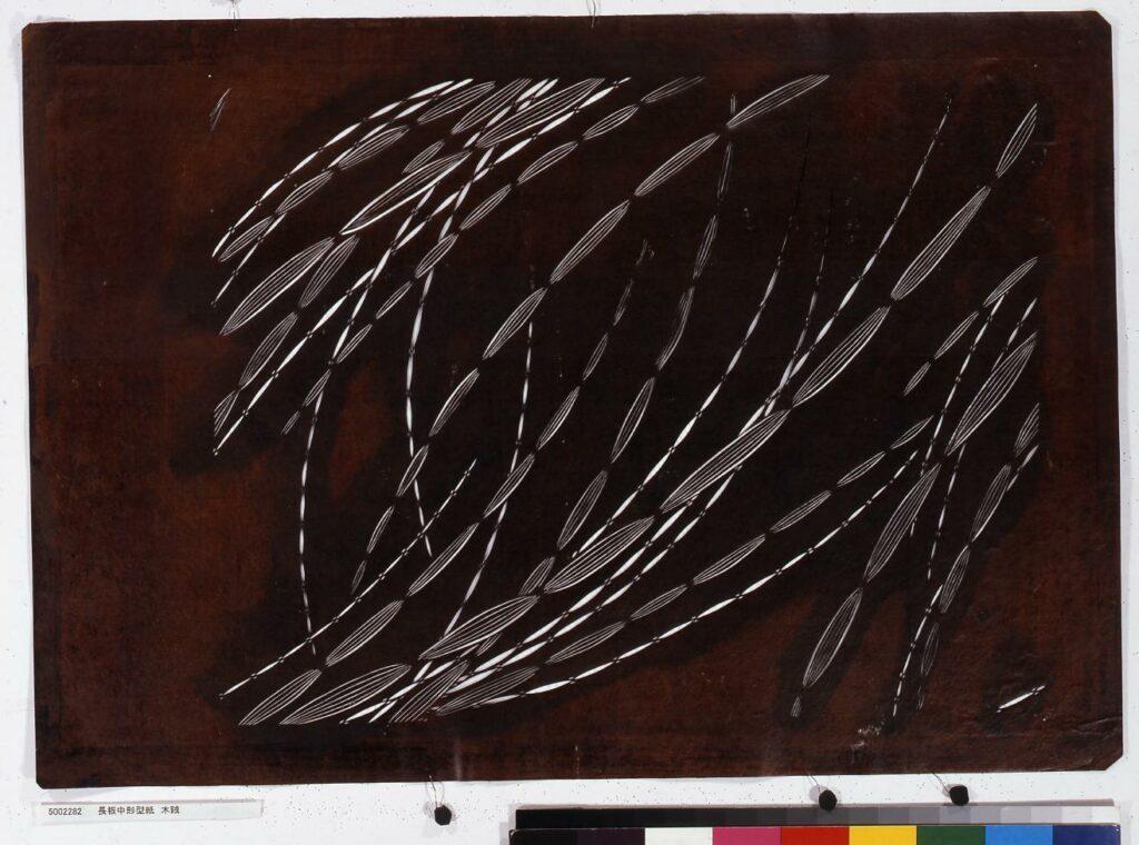 作品画像:長板中形型紙 木賊