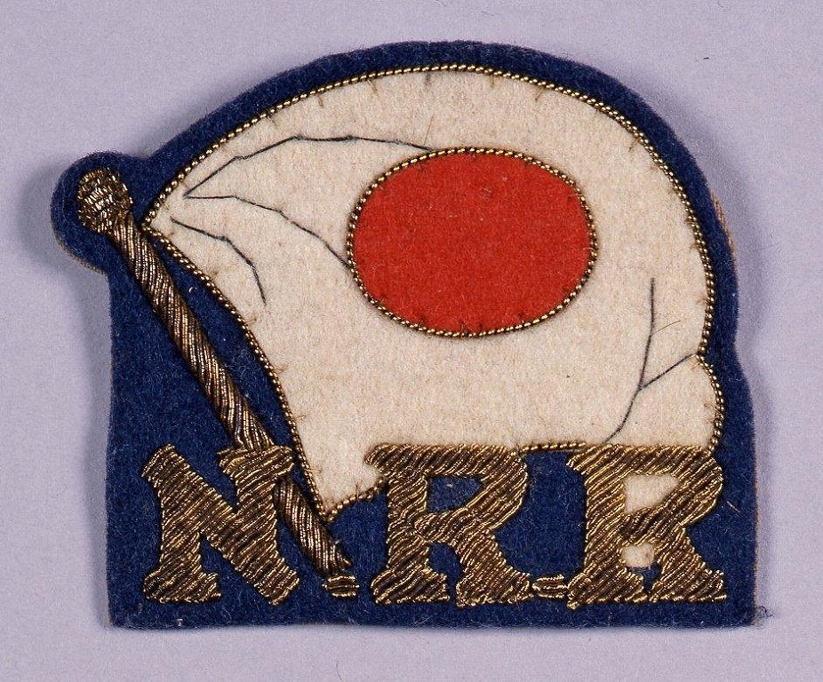 作品画像:日本陸上競技連盟(N.R.R) 布バッジ