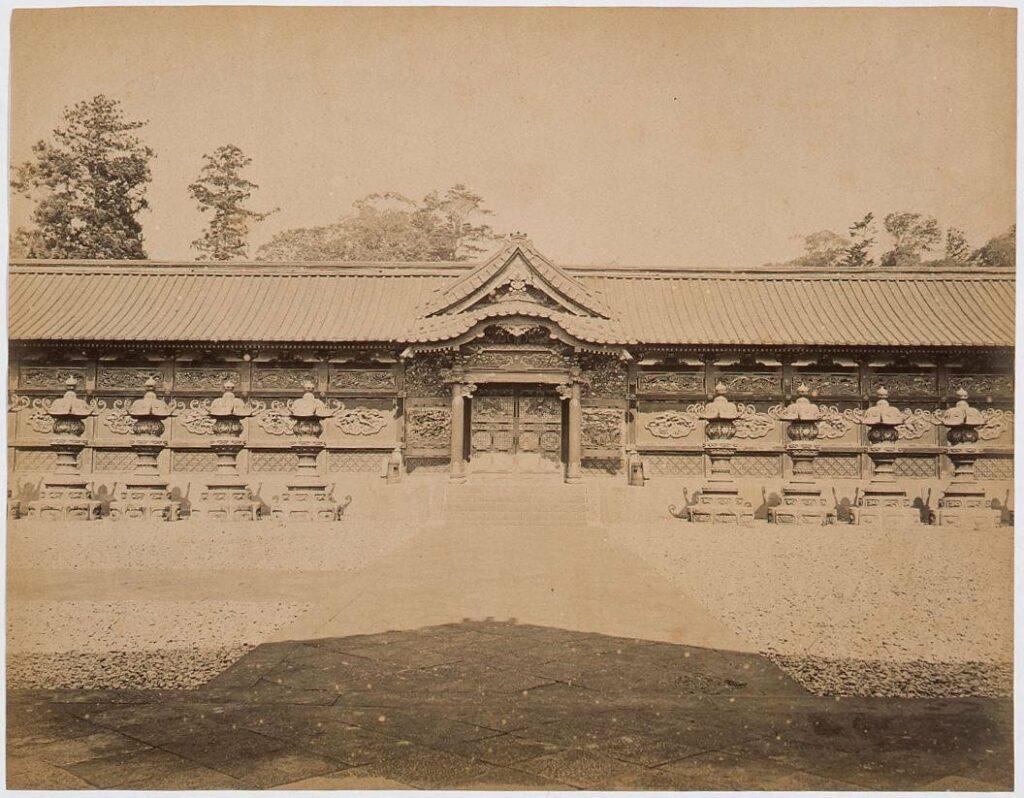 作品画像:増上寺中門 左右廊(遠景)