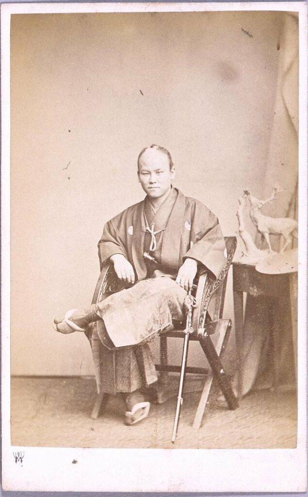 作品画像:慶応元年遣欧使節肖像写真 塩田三郎