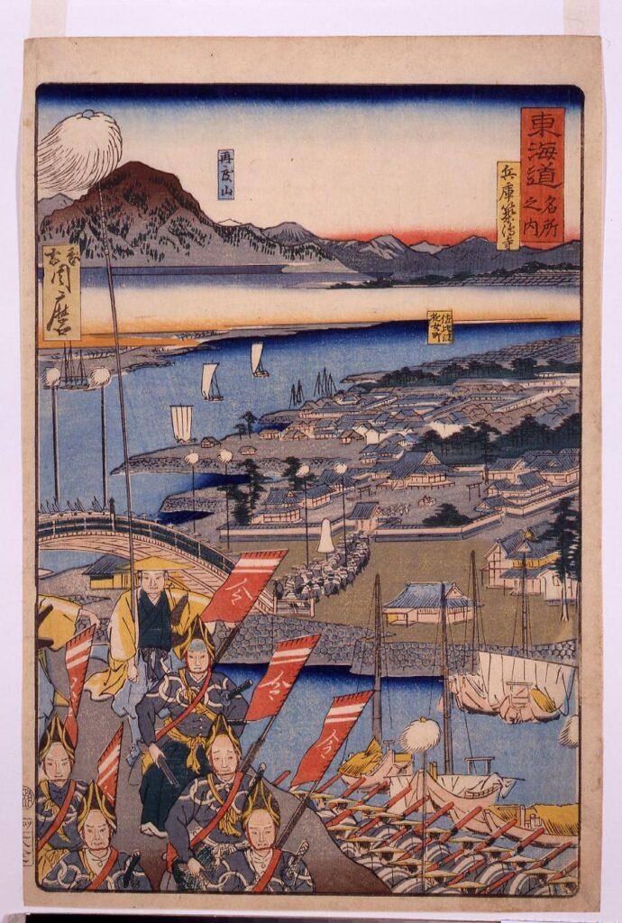 作品画像:東海道名所之内 兵庫築嶋寺