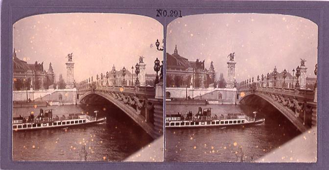作品画像:パリ、アレキサンドル3世橋(No.291)