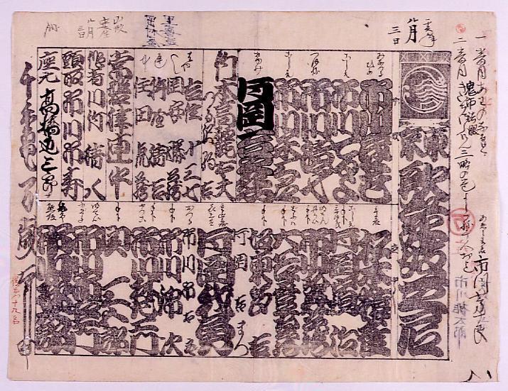 作品画像:辻番付「東京歌舞伎芝居」