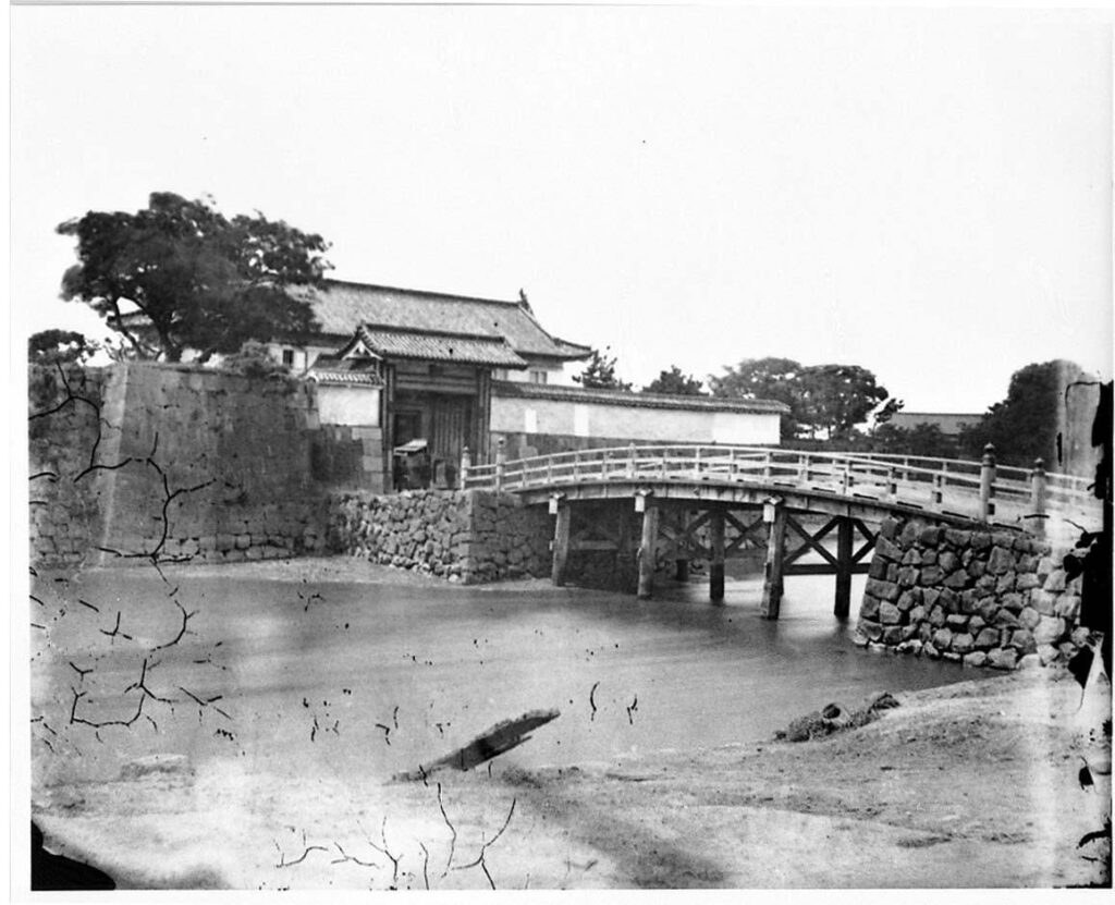 作品画像:旧江戸城写真ガラス原板  呉服橋門(外側)