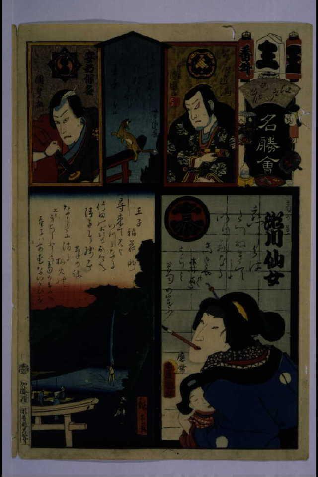 作品画像:江戸の花名勝会 王 番外