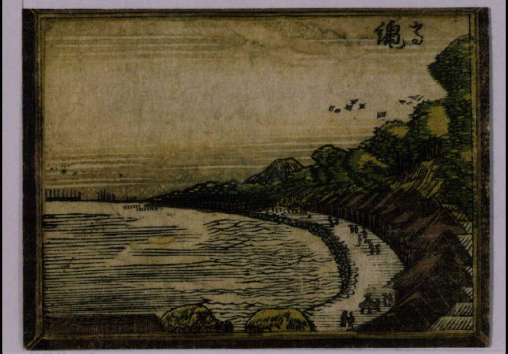 作品画像:阿蘭陀画鏡 江戸八景 高輪