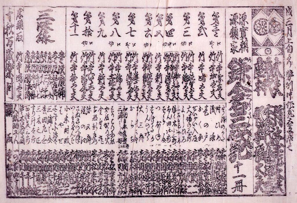 作品画像:浄瑠璃番付(「鎌倉三代記」)