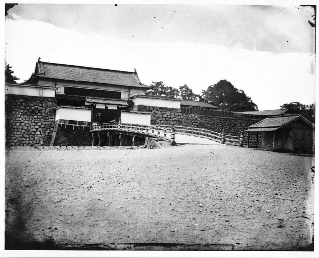 作品画像:旧江戸城写真ガラス原板  西ノ丸大手門