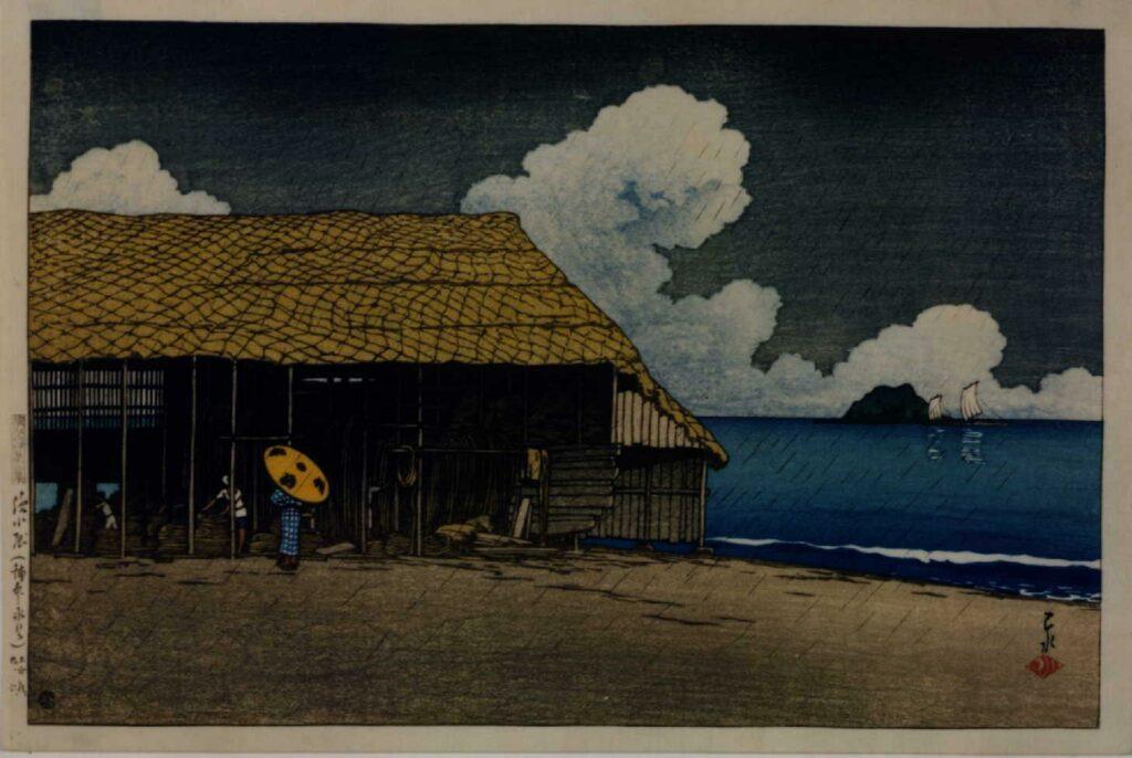 作品画像:旅みやげ第二集 浜小屋(越中氷見)