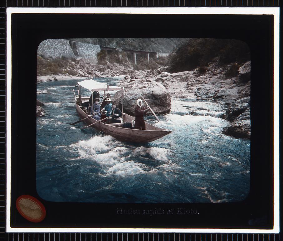 作品画像:京都 保津川下り(幻灯原板)