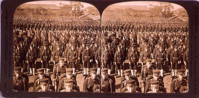 作品画像:Japanese InfantryAt the Emperor's Birthday Review,Tokio,Jpapan.3884