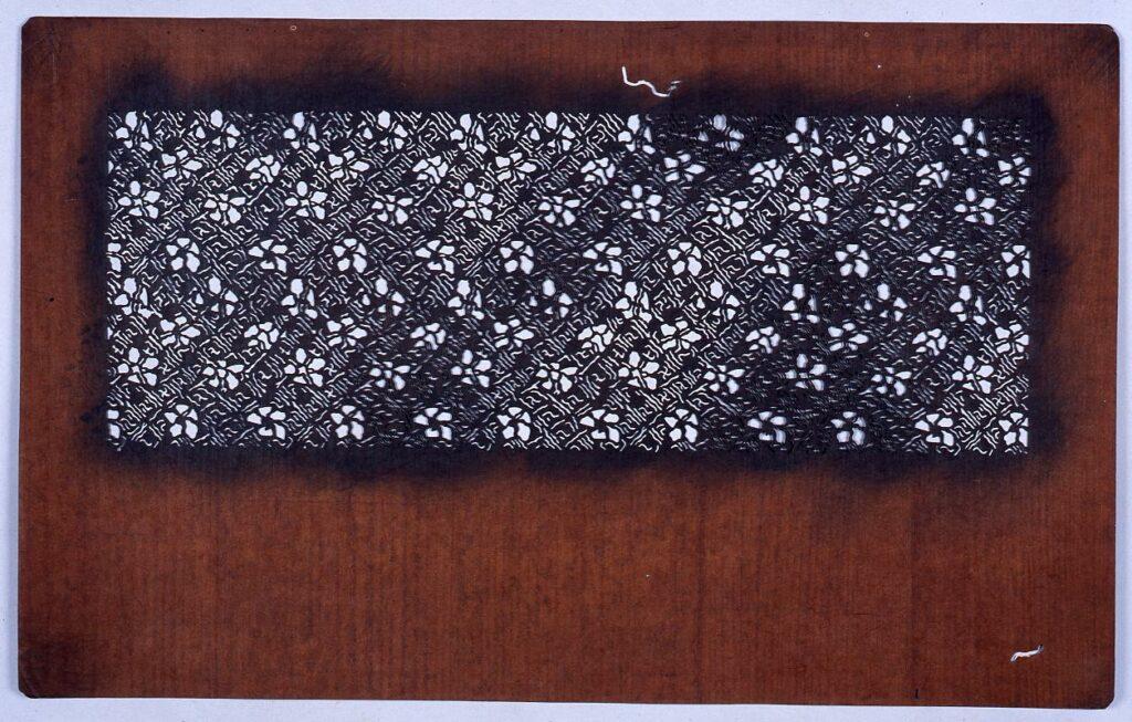 長板中形型紙 花とまんじ文 (小判 追掛)