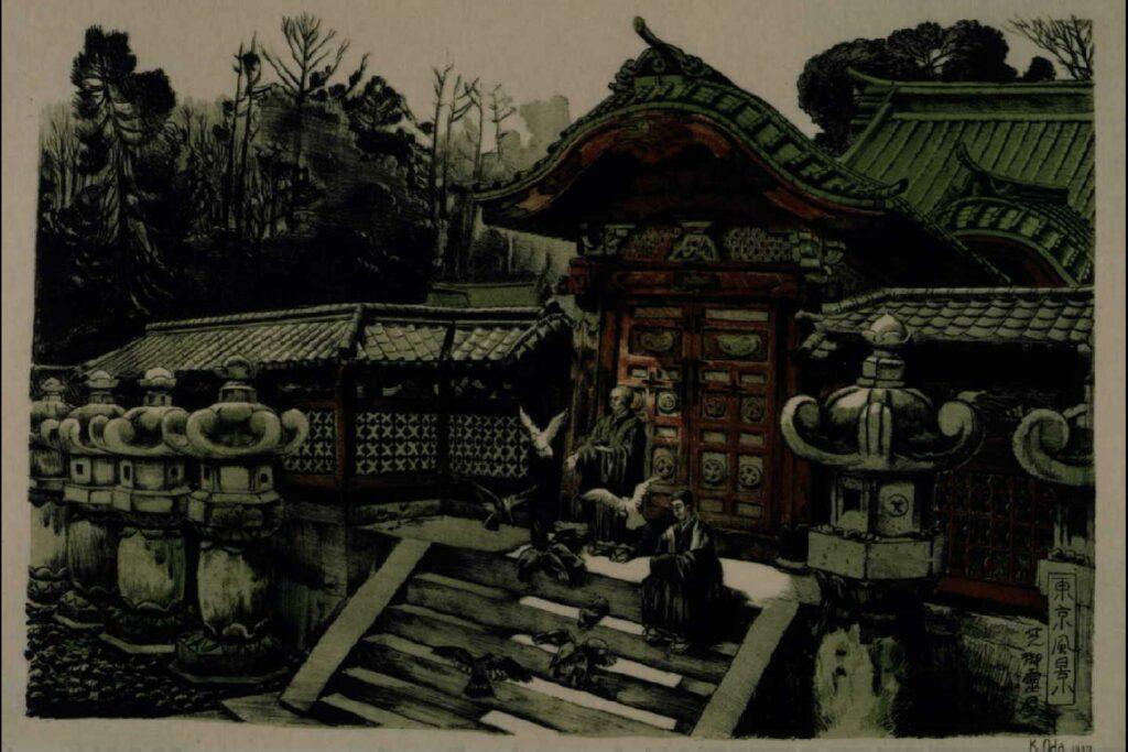作品画像:東京風景 十七 芝御霊屋