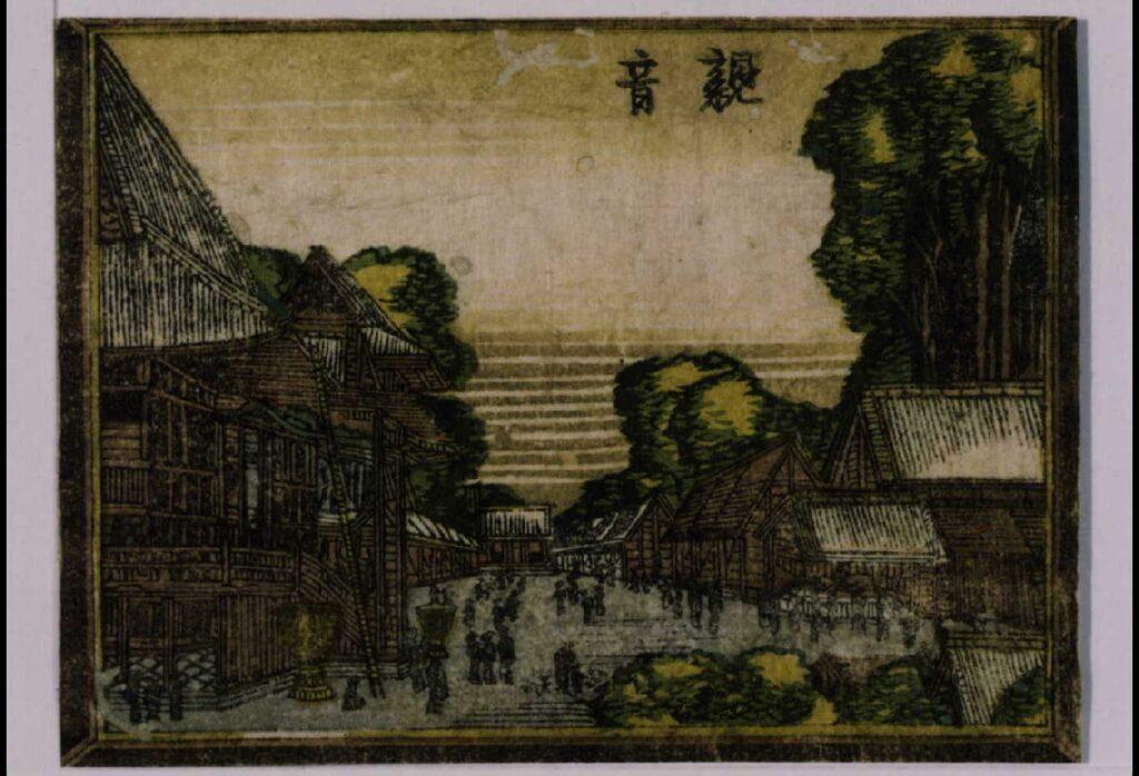阿蘭陀画鏡 江戸八景 観音