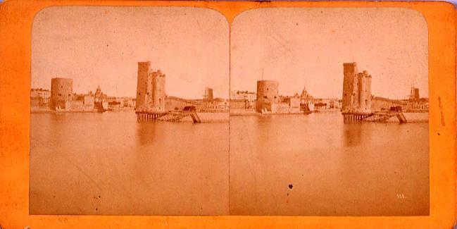 作品画像:外国製ステレオ写真 ヨーロッパ水辺の街