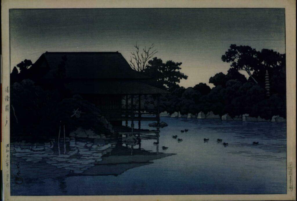作品画像:清澄園之夕