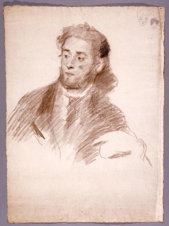 作品画像:素描 男性肖像