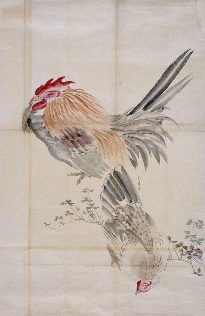 作品画像:粉本 双鶏