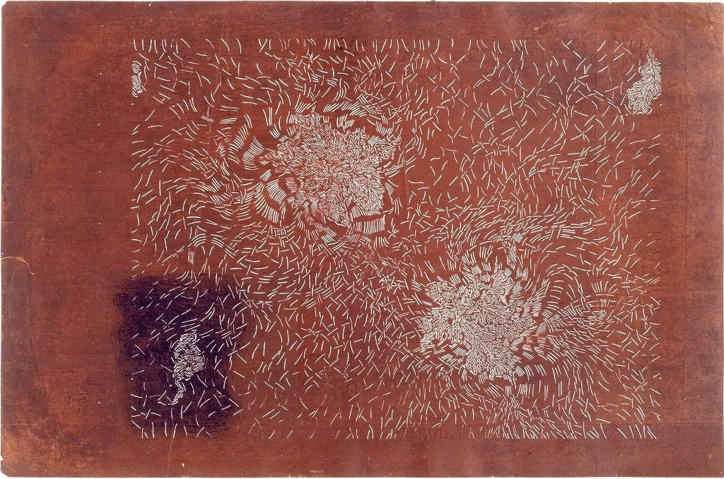 長板中形型紙 葉のくす玉(大判 追掛)