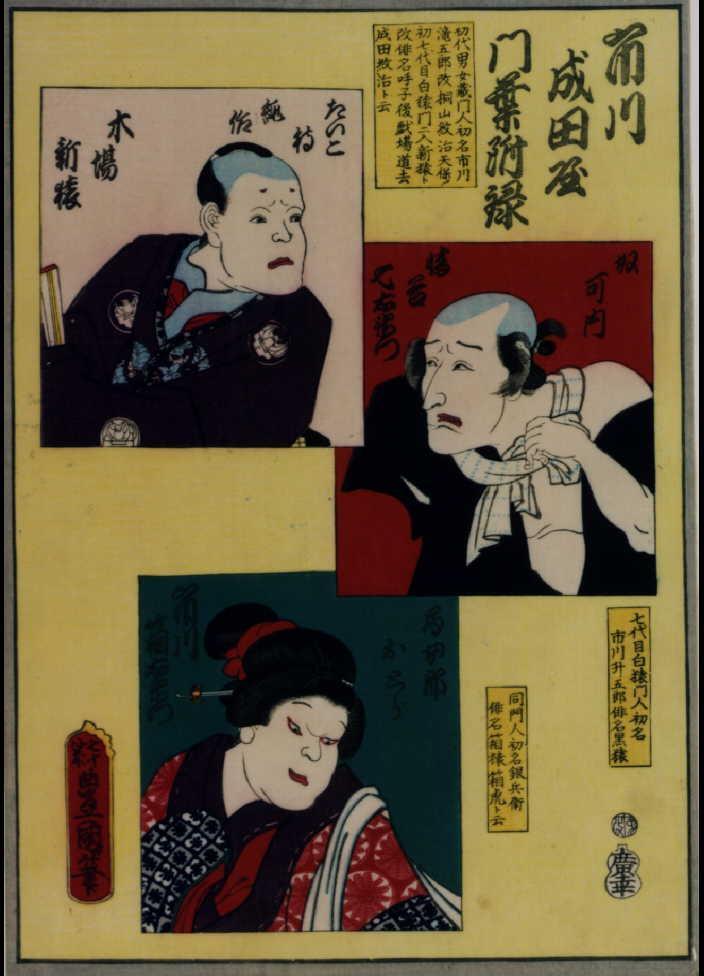 作品画像:古今俳優似顔大全 市川成田屋門葉附禄