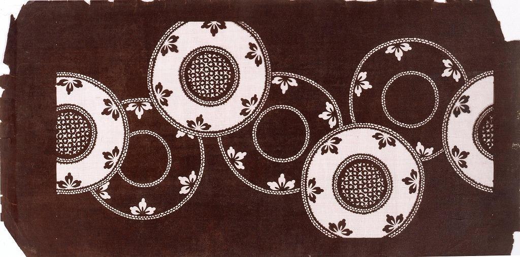 作品画像:長板中形型紙 丸文