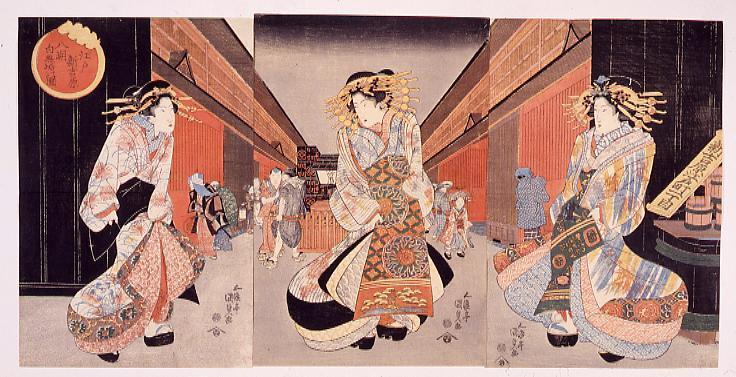 作品画像:江戸新吉原八朔白無垢の図