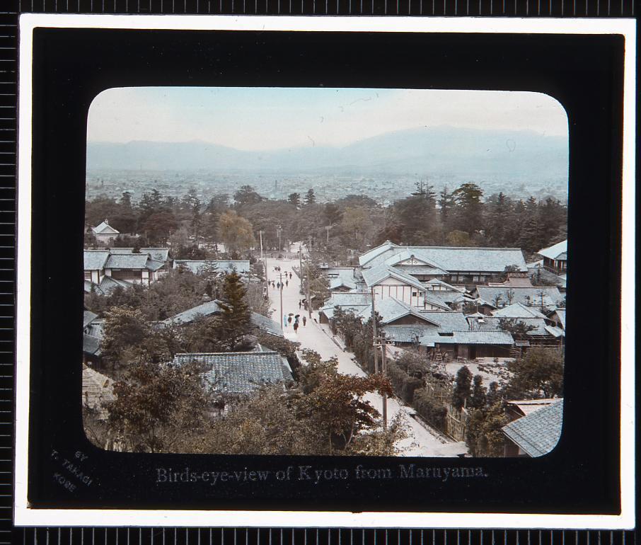 作品画像:円山より望む京都(幻灯原板)