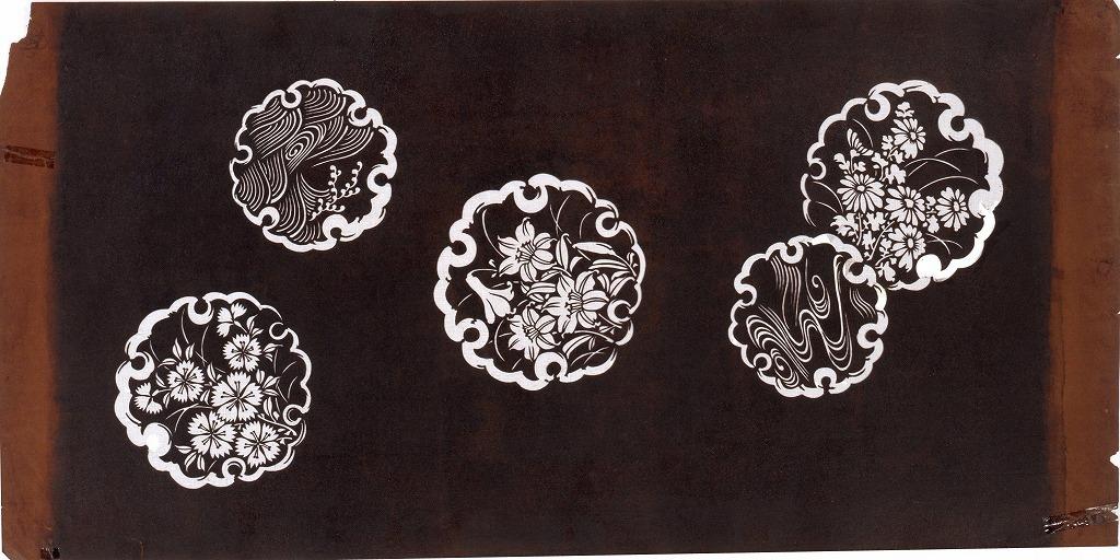 作品画像:長板中形型紙 雪輪