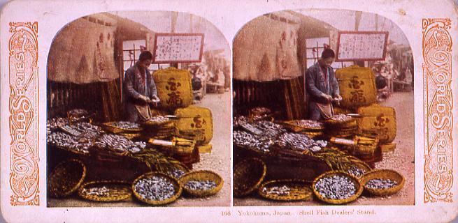 作品画像:Yokohama,Japan.Shell Fish Dealers'Stand.168