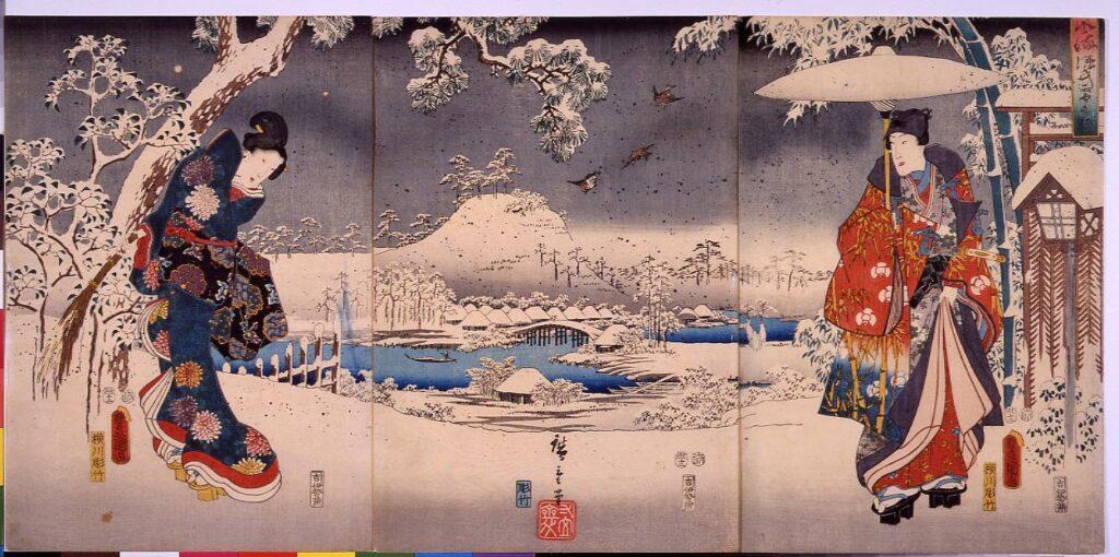 作品画像:風流源氏雪の眺