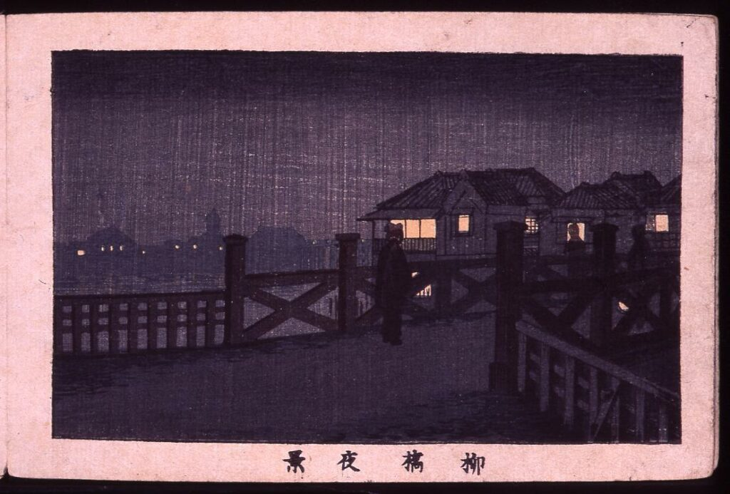 作品画像:柳橋夜景