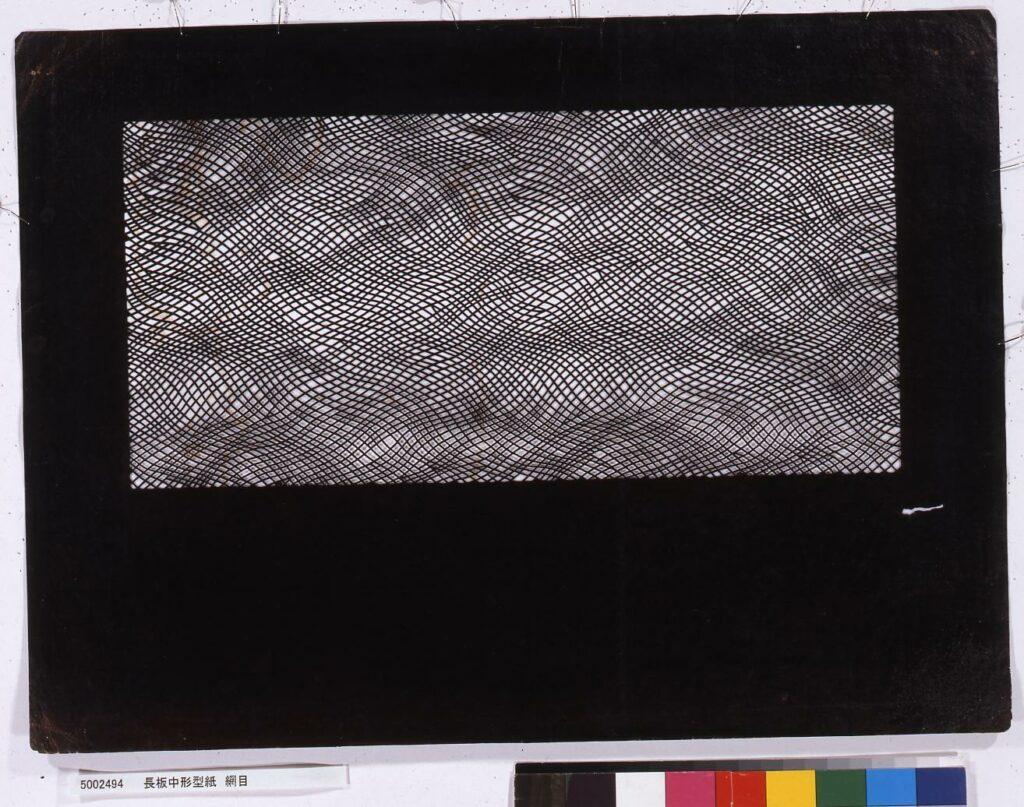 作品画像:長板中形型紙 網目