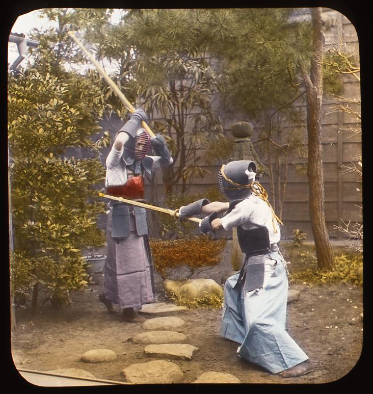 作品画像:剣道をする男性たち