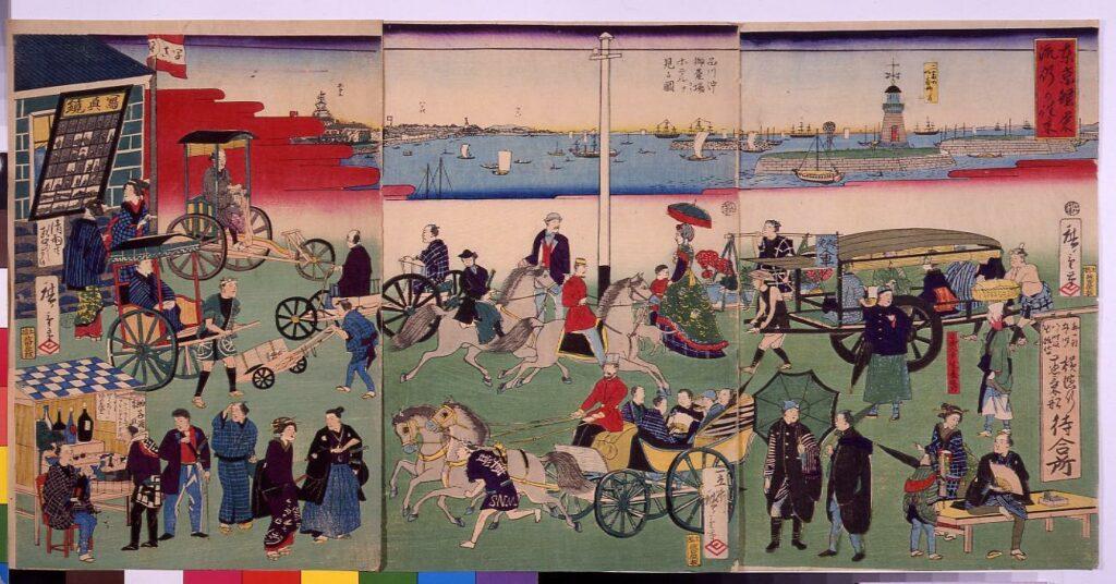 作品画像:東京繁栄流行の往来
