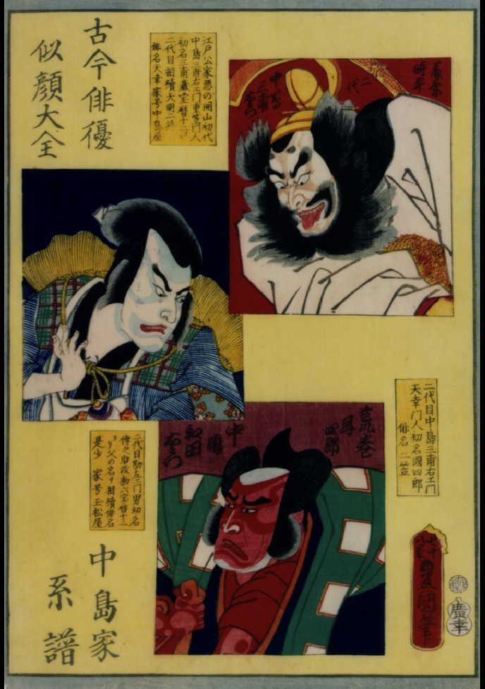作品画像:古今俳優似顔大全 中島家系譜