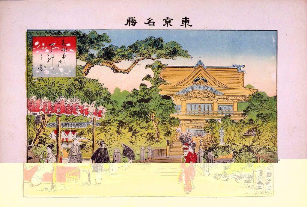 作品画像:東京名勝 亀井戸天神之図