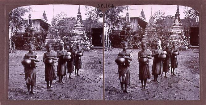 作品画像:暹羅国小僧の托鉢(No.164)