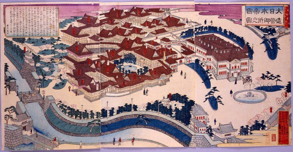 作品画像:大日本帝国造営御所之図