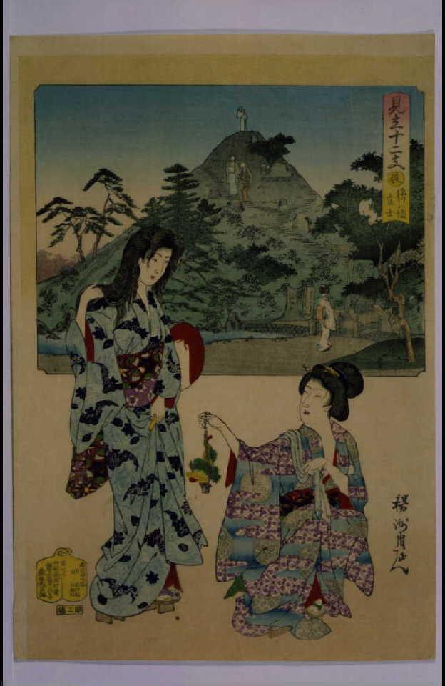 作品画像:見立十二支 辰 深川八幡富士