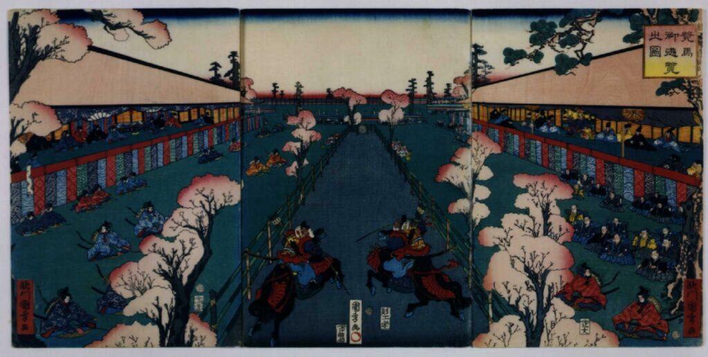作品画像:東海道名所之内 競馬御遊覧之図