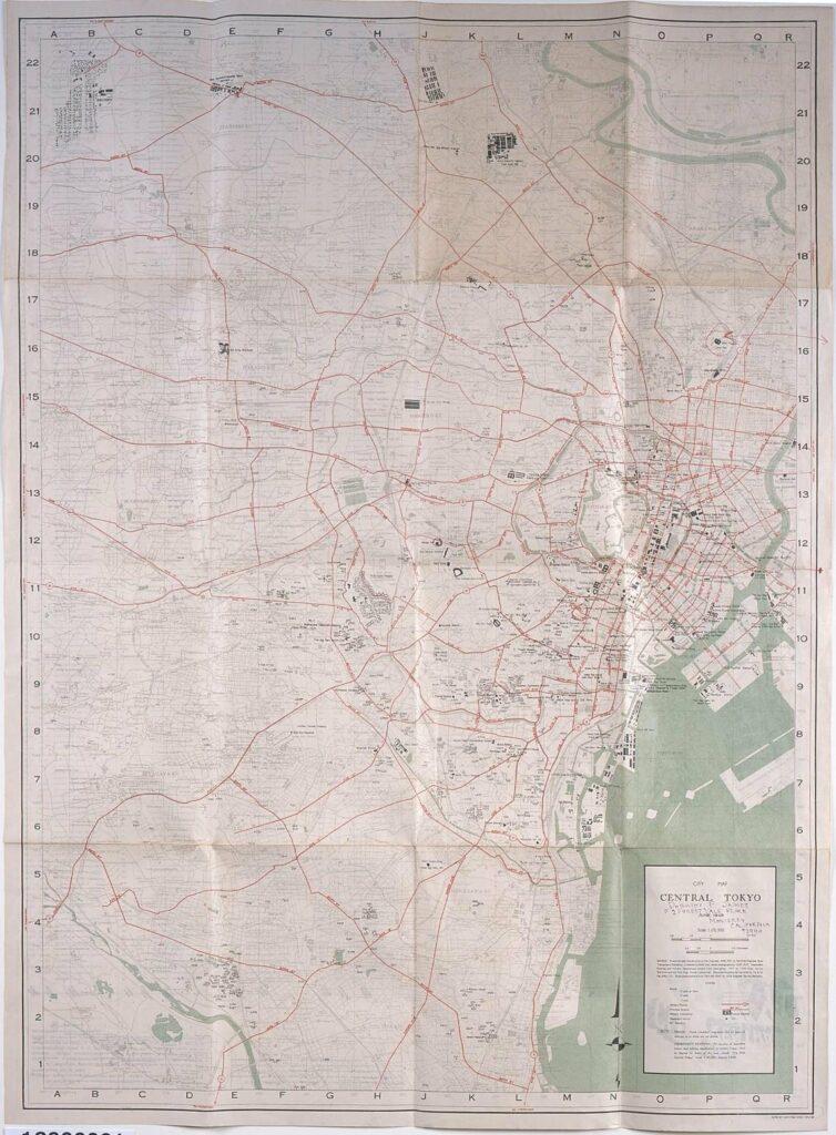 作品画像:CITY MAP CENTRAL TOKYO(GHQ東京占領地図)